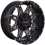 LC LC-OF 1 Gloss Black Milled Spockes(LCOF12096139GBM0)