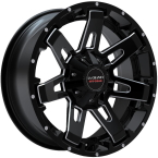 LC LC-OF 4 Gloss Black Milled Spockes(LCOF42096139GBM20)