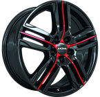 Ronal R57 Gloss Black / Red(ITV18754100E44ZR68R57)