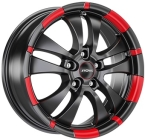 Ronal R59 Dull Black / Red(ITV17755114E40DD82R59)