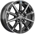 Ronal R60 Gloss Black / Polished(ITV16655100E40ZP68R60)