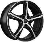 Ronal R62 Dull Black / Polished(ITV18755114E40BP82R62)