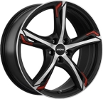Ronal R62 red Dull Black / Polished(ITV17755108E45BP76R62R)