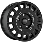 Oz Rally Racing Black MATT BLACK SILVER LETTERING(W01A59001R9)