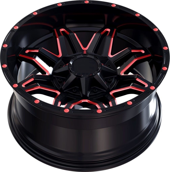 LC LC-OF 3 Gloss Black / Red Spockes