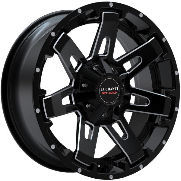 LC LC-OF 4 Gloss Black Milled Spockes