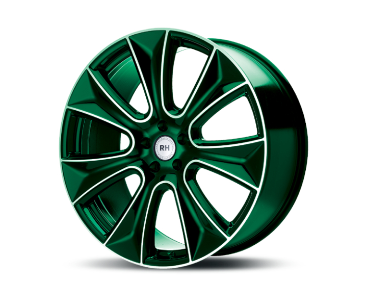 RH Alurad NAJ II color polished - green