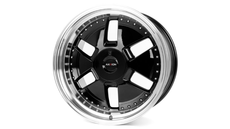 AXXION Y1 Glossy black with full machined lip