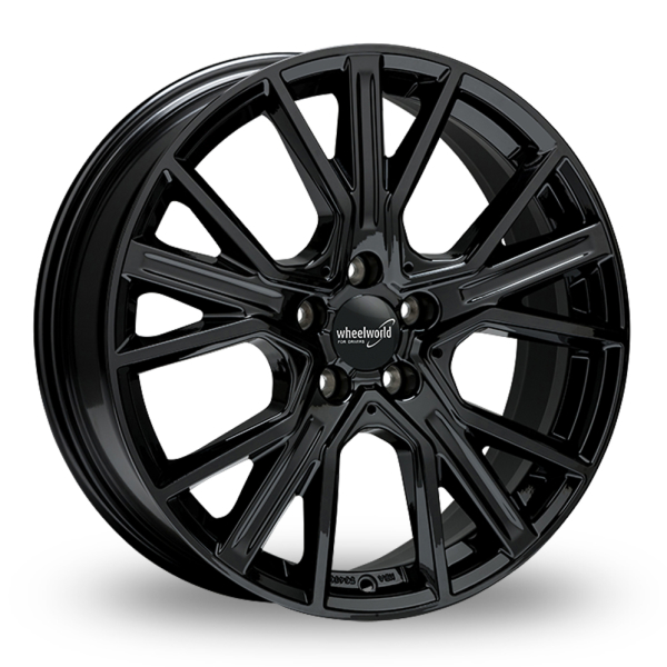 Wheelworld WH34 Black glossy painted